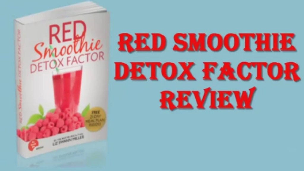 Red smoothie detox drink recipes